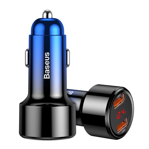Baseus Magic Series Szybka ładowarka samochodowa USB + USB 2x Quick Charge 3.0 45W